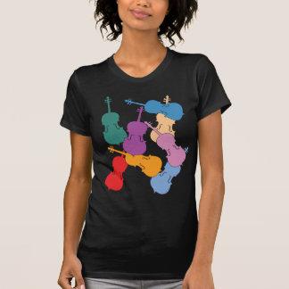 Violoncelos coloridos camisetas