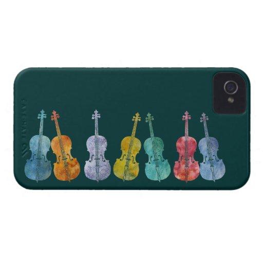 Violoncelos multicolores carcasa para iPhone 4