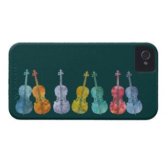 Violoncelos multicolores iPhone 4 Case-Mate coberturas