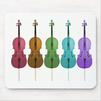 Violoncelos y color tapete de ratones