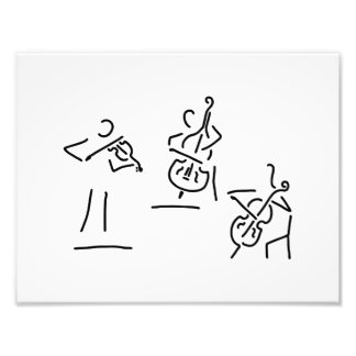 violonist cellistin streicher against bass photo print