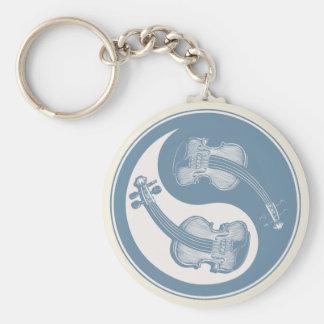 Violyin-Yang Basic Round Button Keychain