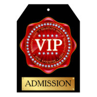 VIP Admission Invitation