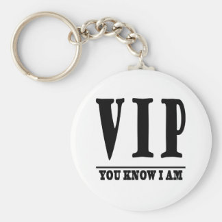 VIP BASIC ROUND BUTTON KEYCHAIN