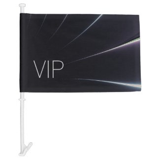 VIP Black Burst Car Flag