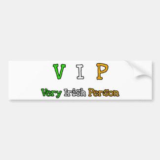 VIP CAR BUMPER STICKER