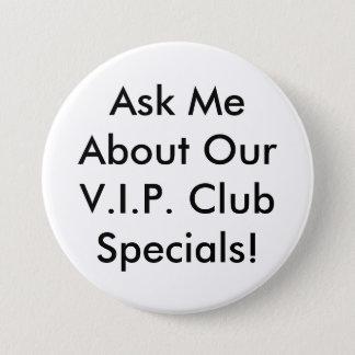VIP Button - Black and white