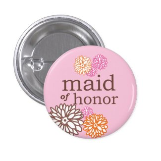 VIP Button | Maid of Honor Chrysanthemum