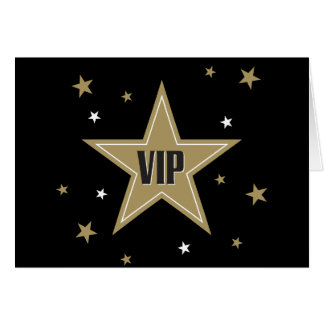 VIP con las estrellas Tarjeta De Felicitación
