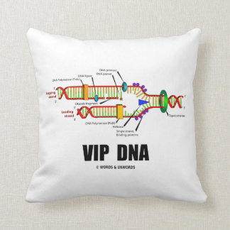 VIP DNA (DNA Replication) Throw Pillows