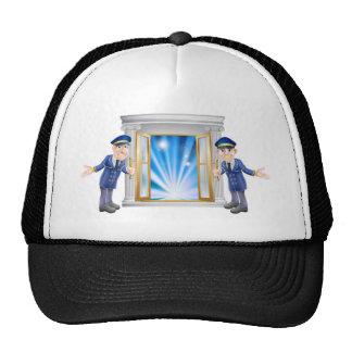 VIP doormen and entrance door Trucker Hats