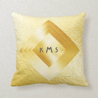 Vip Fresh Yellow Geometric Monogram Pillow