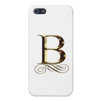 "VIP Gold ""B"" monogram iPhone SE/5/5s Cover"