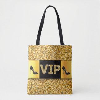 VIP Gold Diamonds High Heels Tote Bag