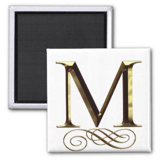 """VIP Gold """"M"""" monogram Magnet"""