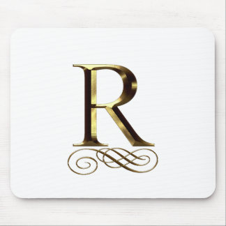 "VIP Gold ""R"" monogram Mouse Pad"