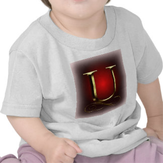 "VIP Gold ""U"" monogram in red and black Tee Shirt"