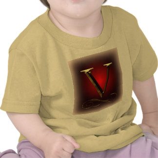 "VIP Gold ""V"" monogram in red and black T-shirts"