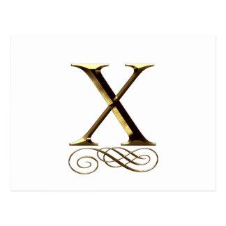 "VIP Gold ""X"" monogram Postcard"