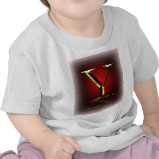 "VIP Gold ""Y"" monogram in red and black Tees"