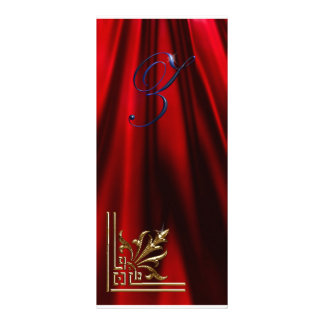 """VIP Gold """"Z"""" red, blue  Rack Card"""