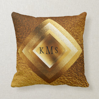 Vip Golden Geometric Monogram Pillow