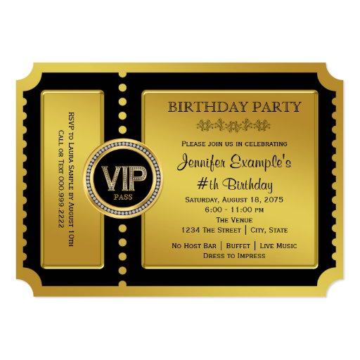 Golden Birthday Invitations as best invitation ideas