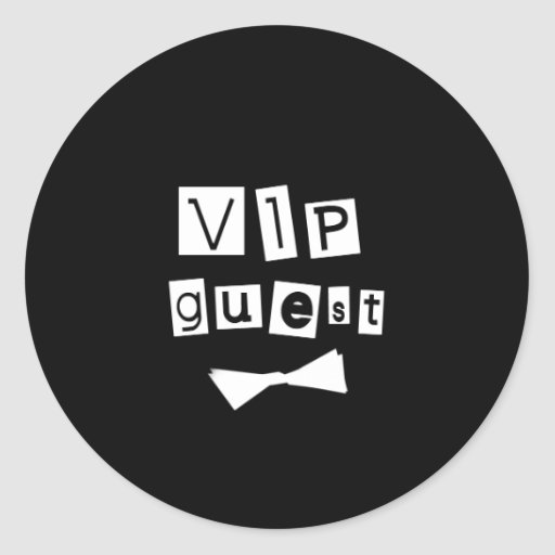 VIP Guest Bow Tie Stickers