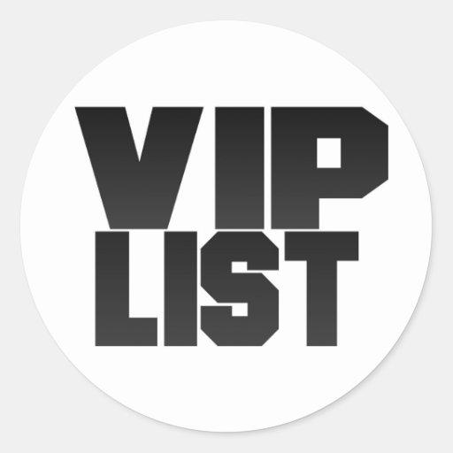 Vip List Sticker Sheet