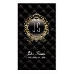 VIP Luxury Lawyer Dark business card