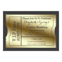 Vip pass invitations zazzle vip pass golden wedding anniversary ticket wedding invitations filmwisefo