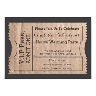 admit one ticket invitations zazzle