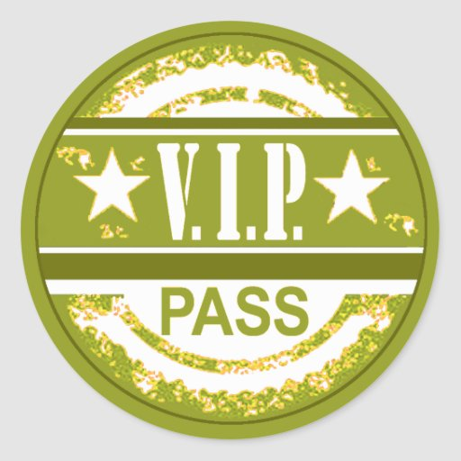 VIP Pass Party Sticker (olive)
