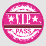 VIP Pass Party Sticker (orchid)