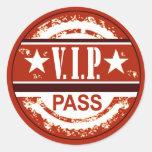 VIP Pass Party Sticker (russet)