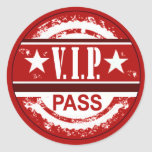 VIP Pass Sweet 16 Party Sticker (red)