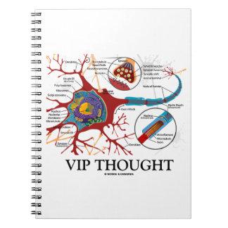 VIP pensado (neurona/sinapsis) Libros De Apuntes Con Espiral