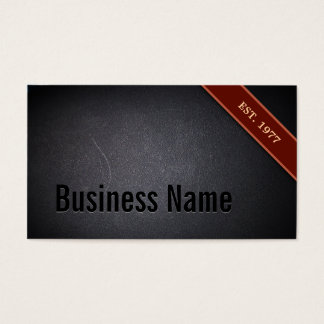 VIP Red Stripe Coal Black Texture Business Card