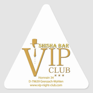 VIP Shisha artículo de fan Pegatina Triangular