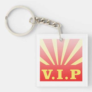 VIP sunburst Double-Sided Square Acrylic Keychain
