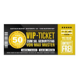 VIP TICKET invitation maps (ocher orange)