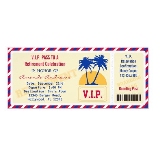 VIP Ticket Retirement Party Invitation | Zazzle.com
