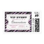 VIP Ticket Zebra Glam Purple Custom Postage
