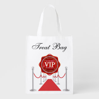 VIP TREAT Grocery, Gift, Favor Bag - SRF Reusable Grocery Bags