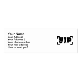 VIP very important Person Mini Business Card