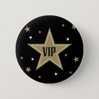 VIP with stars Pinback Button