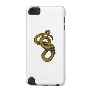 Viper Coiled Ready To Pounce Drawing iPod Touch (5th Generation) Case