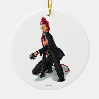 Viper Crouch Ceramic Ornament