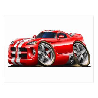 Viper GTS Red/Wht Postcard