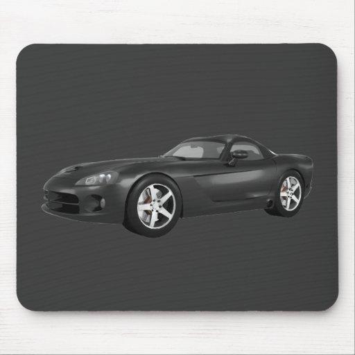 Viper Hard-Top Muscle Car: Black Finish Mouse Pad